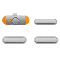 For iPad mini 3/iPad Air Side Buttons Set Silver