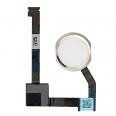 For iPad Mini 4 Home Button Assembly with Flex Cable Ribbon - Silver