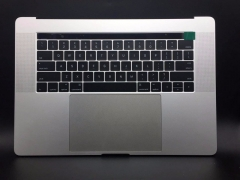 For Macbook Pro A1707 15.4'' Palmrest US Keyboard with Touchpad and Battery Silver Topcase