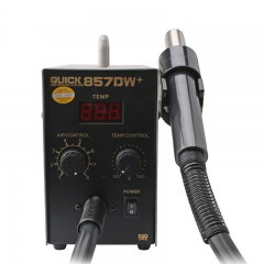 QUICK 857DW+ 110V Hot Air Work Station Soldering Station Lead Free Adjustable Hot Air Heat Gun