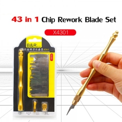 43 in 1 Original Toughness Newest Disassemble IC Chip Knife Set BGA Motherboard Rework Blade Titanium Alloy Handle