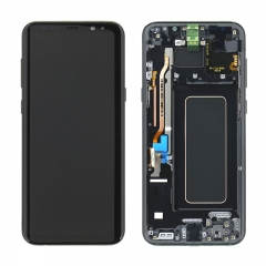 For Samsung Galaxy S8 Plus G955F LCD Screen Display Assembly With Frame - Black