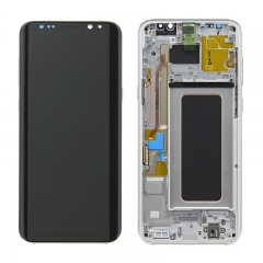For Samsung Galaxy S8 Plus G955F LCD Screen Display Assembly With Frame - Silver