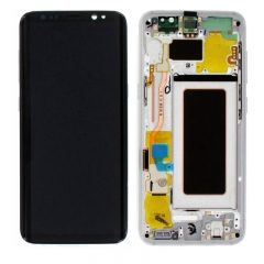 For Samsung Galaxy S8 G950 G950F LCD Screen Display Assembly With Frame - Silver