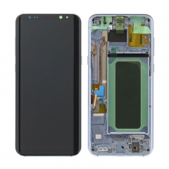 For Samsung Galaxy S8 Plus G955F LCD Screen Display Assembly With Frame - Blue