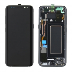 For Samsung Galaxy S8 G950 G950F LCD Screen Display Assembly With Frame - Black