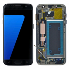 For Samsung Galaxy S7 G930 G930F LCD Screen Display With Frame Assembly - Black