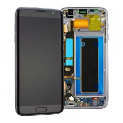 For Samsung Galaxy S7 Edge G935 G935F LCD Screen Display Assembly With Frame - Black