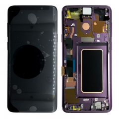 For Samsung Galaxy S9 G960F LCD Screen Display Assembly With Frame - Purple