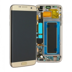 For Samsung Galaxy S7 Edge G935 G935F LCD Screen Display Assembly With Frame - Gold
