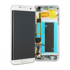 For Samsung Galaxy S7 Edge G935 G935F LCD Screen Display Assembly With Frame - White