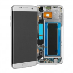 For Samsung Galaxy S7 Edge G935 G935F LCD Screen Display Assembly With Frame - Silver