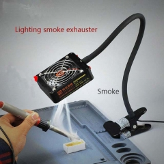 M2 Lighting Smoke Exhauster Electronic Repair Smoking and Lighting Dual Use Soldering Station Smoking Device Exhaust Fan