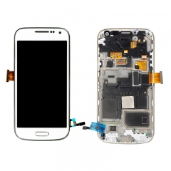 For Samsung Galaxy S4 Mini I9190 i9192 i9195 LCD Screen Display Assembly With Frame - White