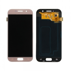For Samsung Galaxy A5 2017 A520 SM-A520 LCD Screen Touch Digitizer Assembly - Pink Rose