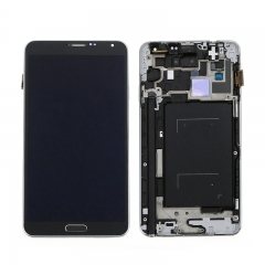 For Samsung Galaxy Note 3 N900 N9005 N9006 N900A N900V N900T LCD Screen and Digitizer Assembly With Frame - Grey