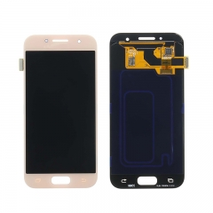For Samsung Galaxy A3 2017 A320 LCD Screen Touch Digitizer Assembly - Pink Rose
