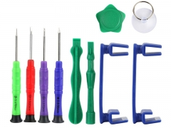 10 in 1 Phone Opening Repair Tools Kit Phone Rotary Stand Holder Screwdriver