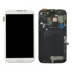 For Samsung Galaxy Note 2 N7100 N7105 LCD Screen and Digitizer Assembly With Frame - White