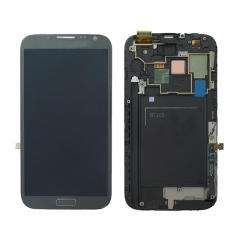 For Samsung Galaxy Note 2 N7100 N7105 LCD Screen and Digitizer Assembly With Frame - Grey