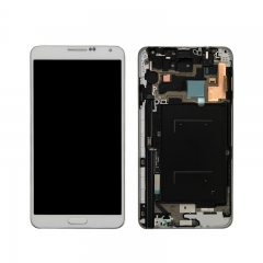For Samsung Galaxy Note 3 N900 N9005 N9006 N900A N900V N900T LCD Screen and Digitizer Assembly With Frame - White