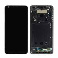 For LG G6 LCD Display Touch Screen Digitizer Assembly With Frame - Black