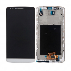 For LG G3 D850 D851 D852 VS985 LS990 LCD Display Touch Screen Digitizer Assembly With Frame - White