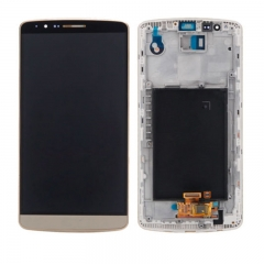 For LG G3 D850 D851 D852 VS985 LS990 LCD Display Touch Screen Digitizer Assembly With Frame - Gold