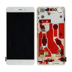 For OnePlus X LCD Screen Display Touch Digitizer Assembly With Frame - White