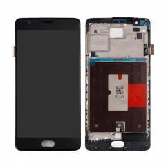 For OnePlus 3 3T LCD Screen Display Touch Digitizer Assembly With Frame - Black
