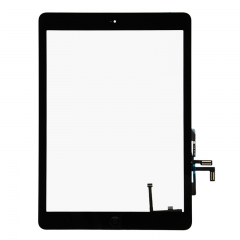 For iPad Air / 5Gen Touch Screen Digitizer With Adhesive And Home Button Assembly High Quality - Black