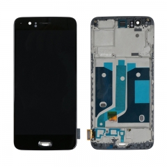 For OnePlus 5 LCD Screen Display Touch Digitizer Assembly With Frame - Black