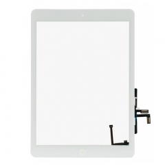 For iPad Air / 5Gen Touch Screen Digitizer With Adhesive And Home Button Assembly High Quality - White