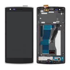 For OnePlus One LCD Screen Display Touch Digitizer Assembly With Frame - Black
