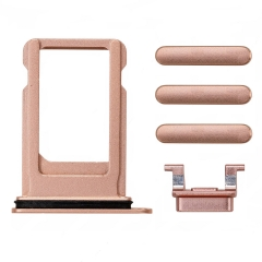 For iPhone 8 Plus Side Buttons Set With SIM Tray - Gold