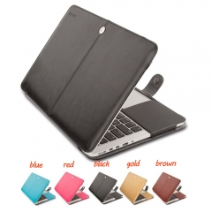 For Macbook Pro Air Retina 11 12 13 15 PU Leather Laptop Case
