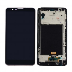 For LG G Stylo 2 LS775 Stylus 2 LCD Display Touch Digitizer Assembly With Frame Black