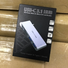 USB-C 3.1 HUB PD Power With SD / Micro SD Card Reader