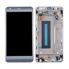 For LG X Cam K580 K580F LCD Display Screen Touch Digitizer Assembly With Frame Silver