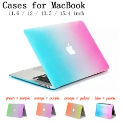 For Macbook Air Pro Retina 11.6 12 13.3 15.4 inch Rainbow Shell Case Cover