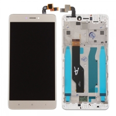 For Xiaomi Redmi Note 4X / Note 4 Global Version LCD Display Touch Screen Digitizer Assembly With Frame Gold