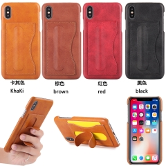For iPhone X 8 7 6S 6 Plus Invisible Bracket Phone Case Cover