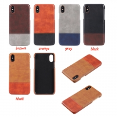 For iPhone X 8 7 6S 6 Plus Two-tone Leather Case Cover
