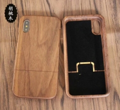 For iPhone Samsung OnePlus etc Black Walnut Wood Case