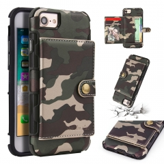 For iPhone Camouflage Leather Case