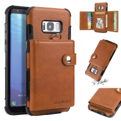 For Samsung Card Cover Wallet Leather Phone Case With Card Slot