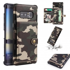 For Samsung Camouflage Leather Case