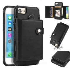 For iPhone Card Cover Wallet Leather Phone Case With Card Slot