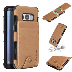 For Samsung Car Holder Leather Case With Car Slot