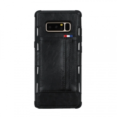 For Samsung Leather Case With Car Slot